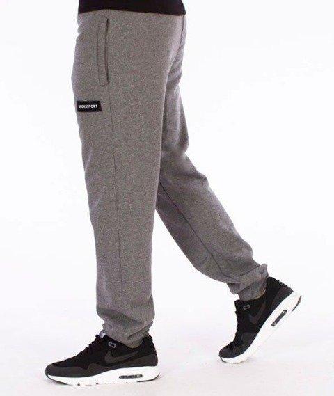 SmokeStory-Smokestory Regular Spodnie Dresowe Grafitowe