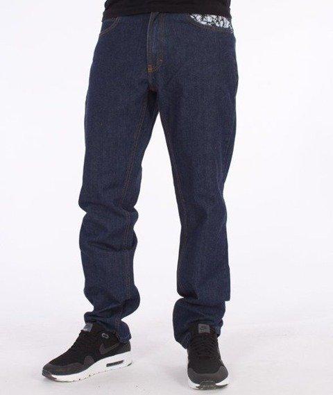 SmokeStory-Splash Slim Jeans Dark Blue
