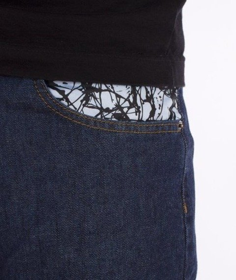 SmokeStory-Splash Slim Jeans Dark Blue