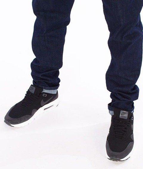 SmokeStory-Straight Fit Guma Spodnie Dark Blue