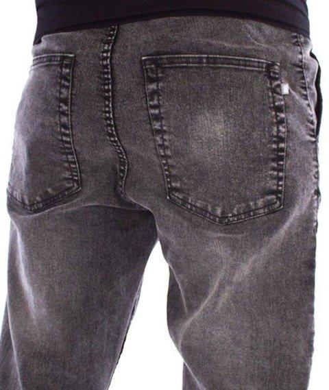 SmokeStory-Stretch Skinny Jeans Guma Spodnie Szary Jeans