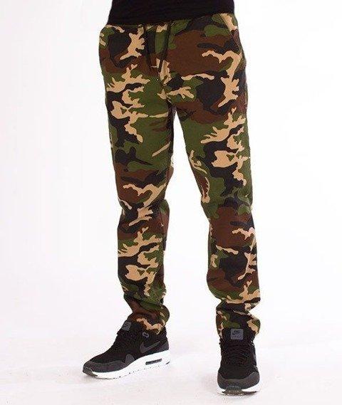 SmokeStory-Stretch Straight Fit Jeans Guma Spodnie Moro