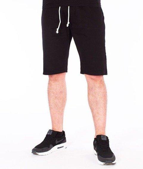 SmokeStory-Szorty Chino Guma Krótkie Spodnie Czarne