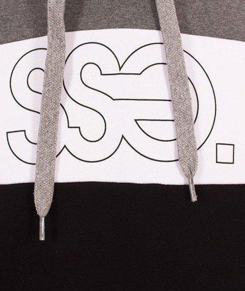 SmokeStory-Triple Outline Bluza Kaptur Ciemny Szary/Czarny