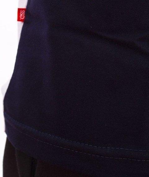 SmokeStory-Triple Outline T-Shirt Biały/Czerwony/Granat
