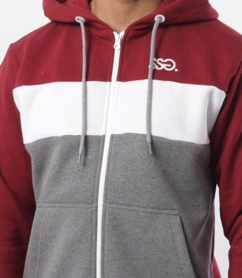 SmokeStory-Triple SSG Bluza Zip Bordo