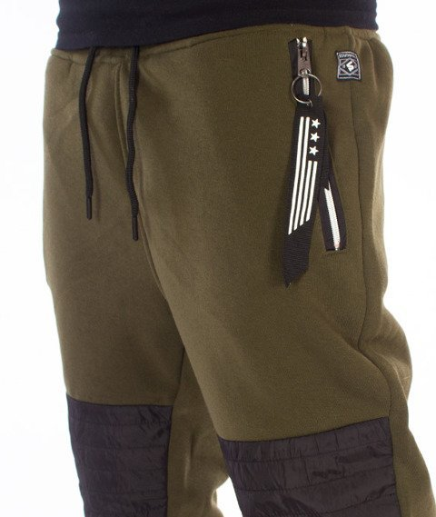 Southpole-Fleece Jogger Spodnie Dresowe Oliwkowe