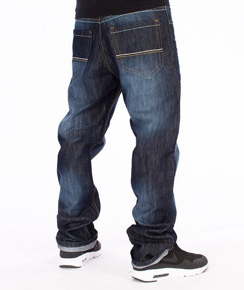 Southpole-Regular Straight Leg Spodnie Jeans Dark Sand Blue