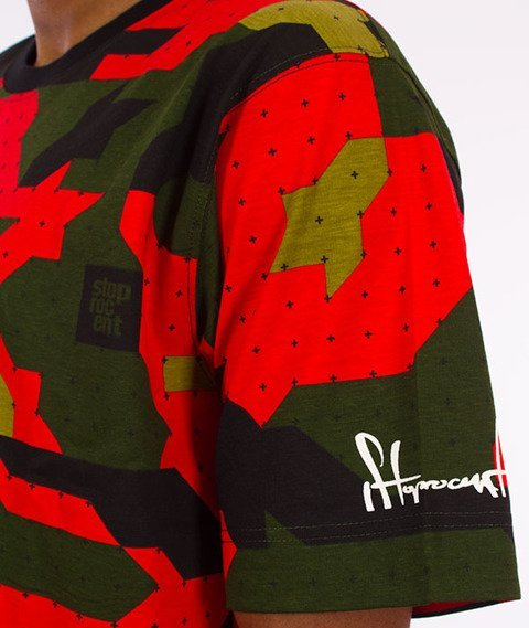 Stoprocent-Camu Red T-shirt Camo
