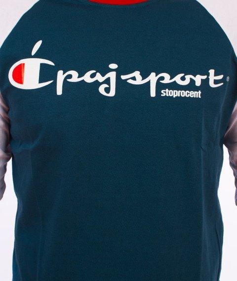 Stoprocent-Champion Longsleeve Niebieski/Biały