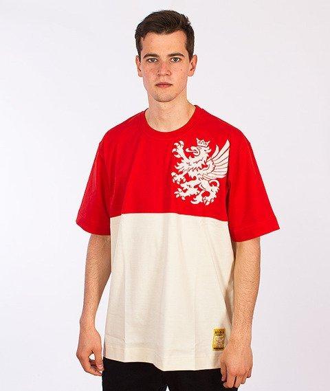 Stoprocent-Gryf16 T-Shirt Czerwony/Beżowy