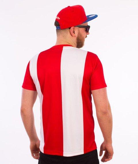 Stoprocent-Nice T-Shirt Biały/Czerwony