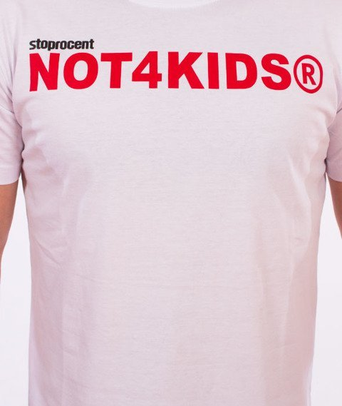 Stoprocent-Not4Kids Slim T-Shirt Biały
