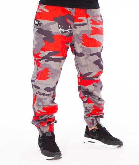 Stoprocent-SJ Jogger Classic17 Spodnie Moro Red/Grey
