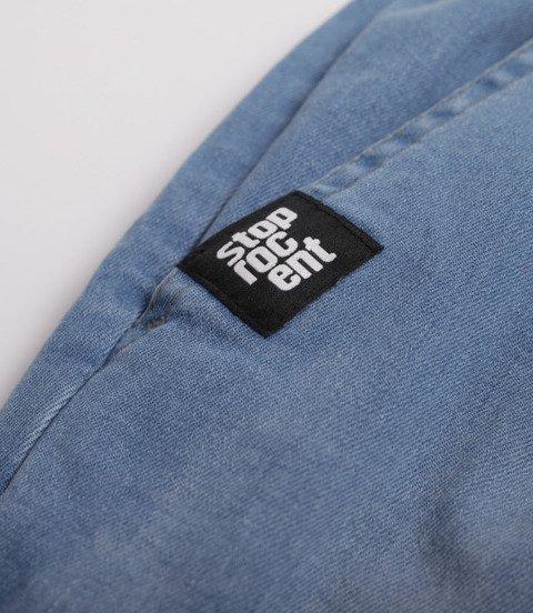 Stoprocent-SPODNIE JOGGER SJG CLASSIC19 Jeans Niebieskie