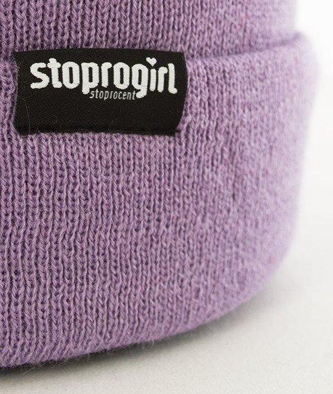 Stoprocent-Stoprogirl Damska Czapka Zimowa Lilac