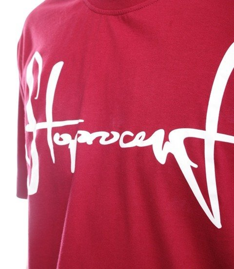 Stoprocent TM TAG T-Shirt Baggy Bordowy