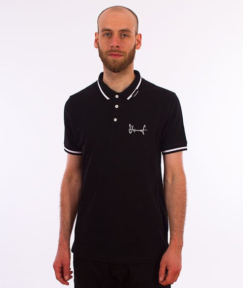 Stoprocent-Tag18 Polo T-Shirt Czarny