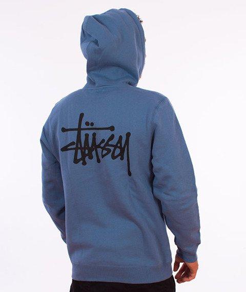 Stussy-Basic Stussy Hood Bluza Kaptur Steel