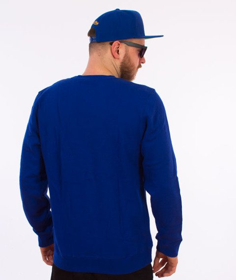 Stussy-Burly Threads Crewneck Bluza Dark Blue