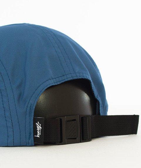 Stussy-Crushable Camp Cap 5 Panel Czapka Blue