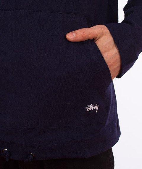 Stussy-Heavy Hooded Jersey Bluza Kaptur Navy