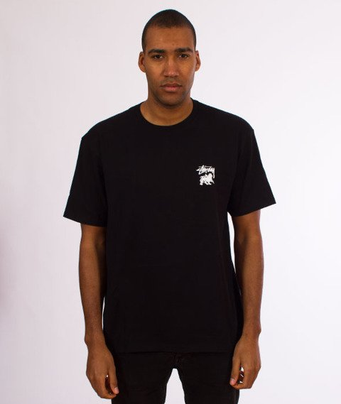 Stussy-Lion Shield T-Shirt Black