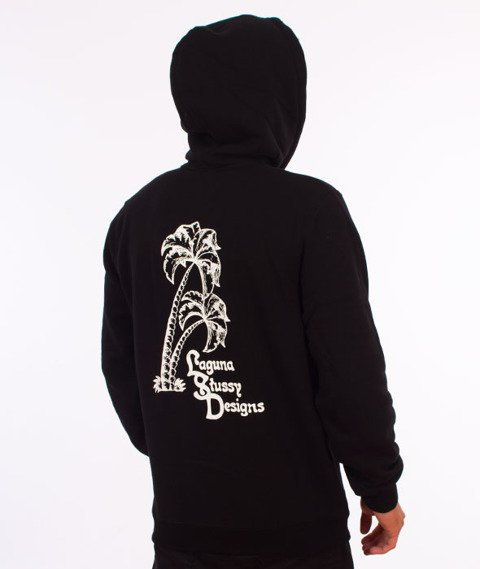 Stussy-Palms Applique Hood Bluza Kaptur Black
