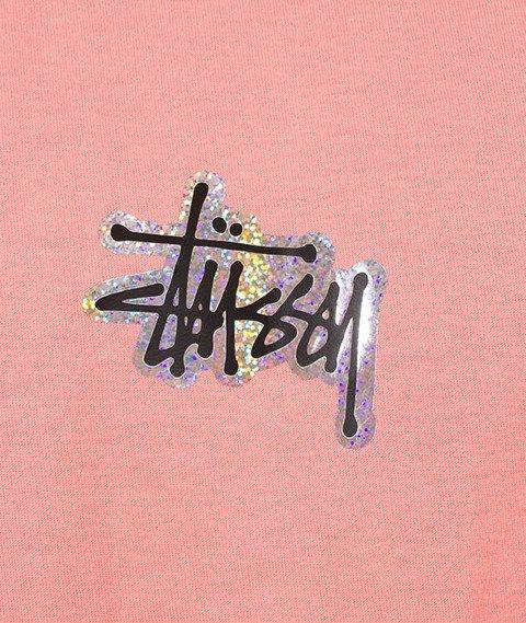 Stussy-Prism Logo T-Shirt Dusty Rose