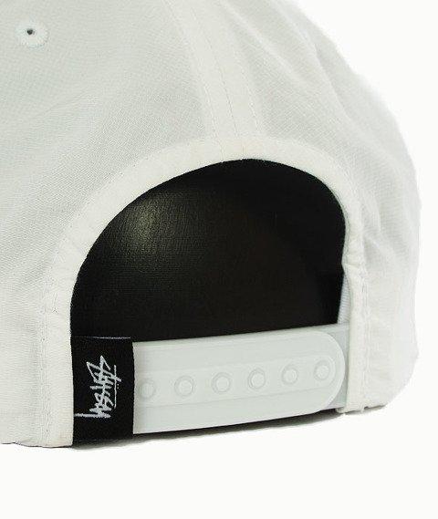 Stussy-Reflective Tape Snapback Czapka White