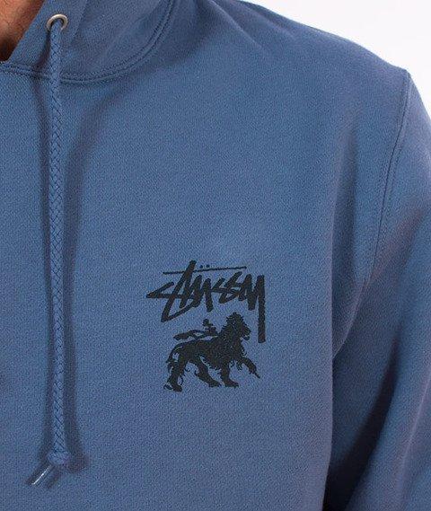 Stussy-Stock Lion Hood Bluza Kaptur Steel