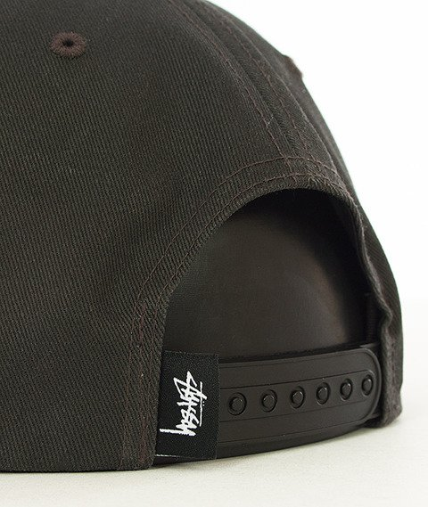 Stussy-Stock Pigment SP16 Snapback Black
