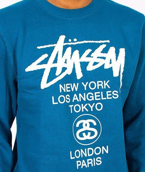 Stussy-World Tour Crew Blue