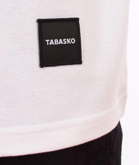 Tabasko-Logo Pattern T-Shirt Biały