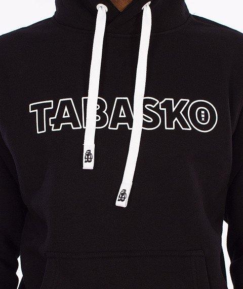 Tabasko-Outline Bluza Kaptur Czarna