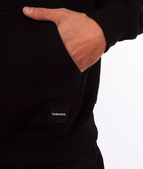 Tabasko-Ribbon Bluza Kaptur Czarna