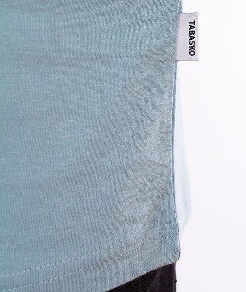 Tabasko-Square T-Shirt Błękitny