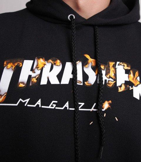Thrasher Hood Intro Burner Bluza z Kapturem Czarny