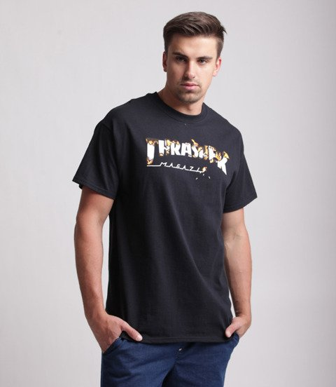 Thrasher Intro Burner T-Shirt Czarny