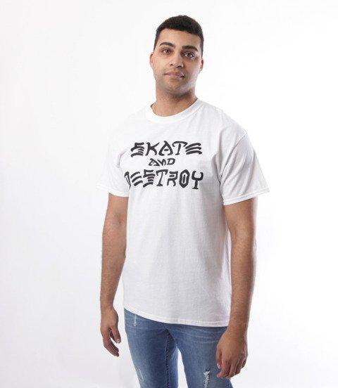 Thrasher-Skate And Destroy T-Shirt Biały