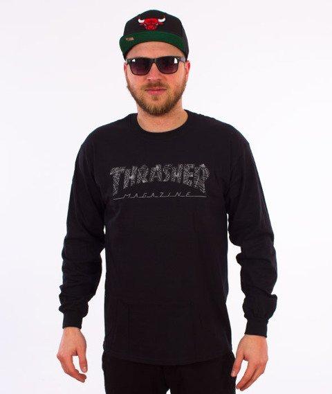 Thrasher-Web Longsleeve Czarny