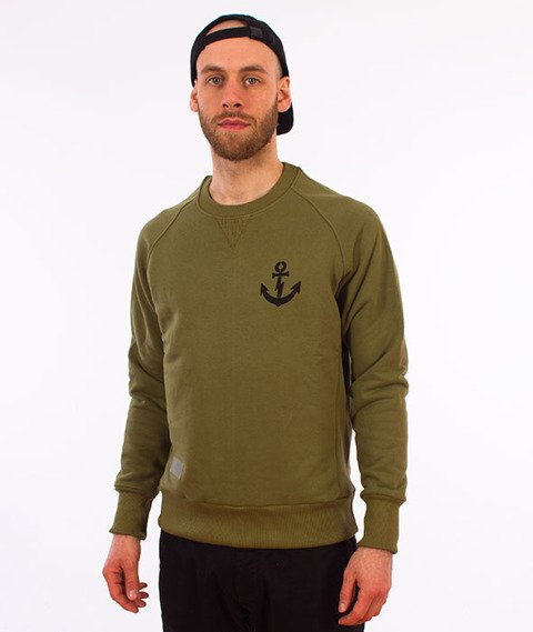 Turbokolor-Anchor Crewneck Khaki