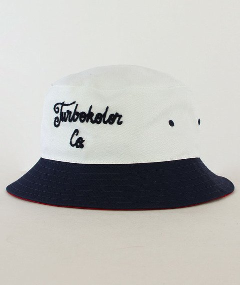 Turbokolor-Bucket Hat White/Navy/Red SS16