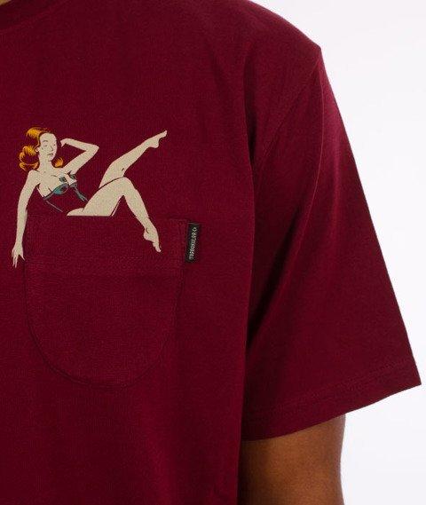 Turbokolor-Champagne T-Shirt Burgundy
