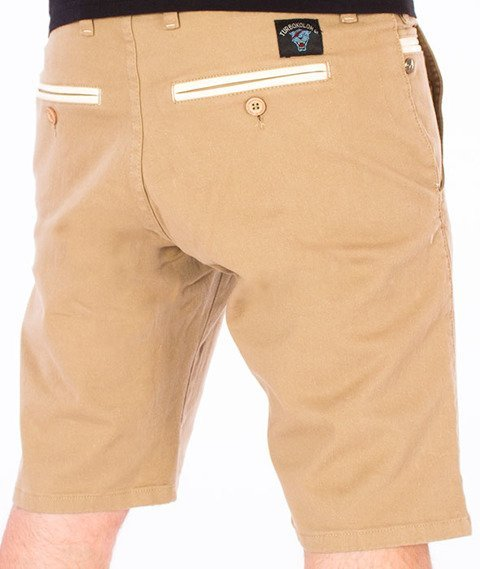 Turbokolor-Chino Shorts Spodnie Khaki