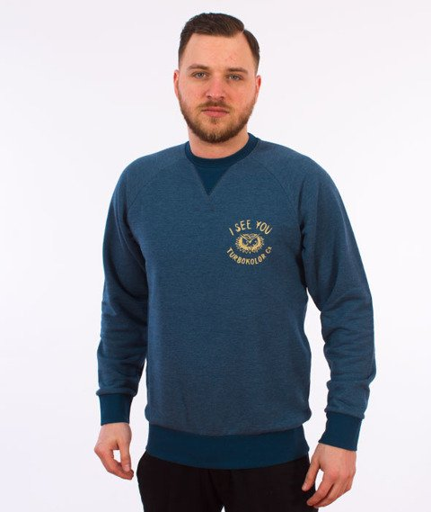 Turbokolor-I See You Crewneck Bluza Heather Navy