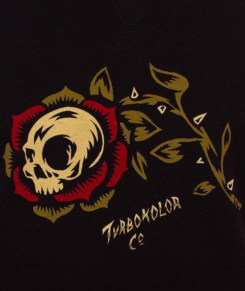 Turbokolor-Rose Crewneck Black