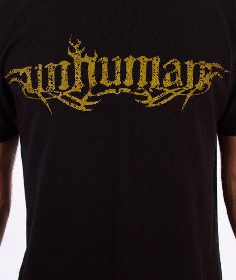 Unhuman-10 T-shirt Czarny/Złoty