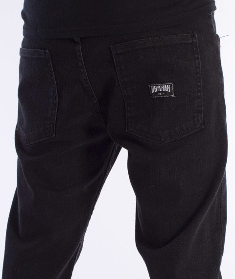 Unhuman-Klasyk Stretch Slim Spodnie Jeans Black