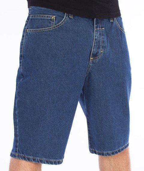 Unhuman-Spodnie Krótkie Jeans Medium Blue